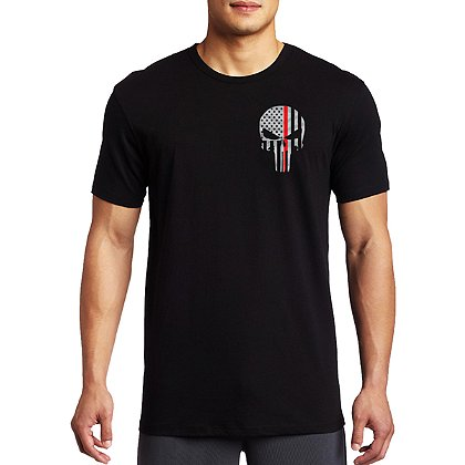 Thin Red Line Short-Sleeve Skull T-Shirt