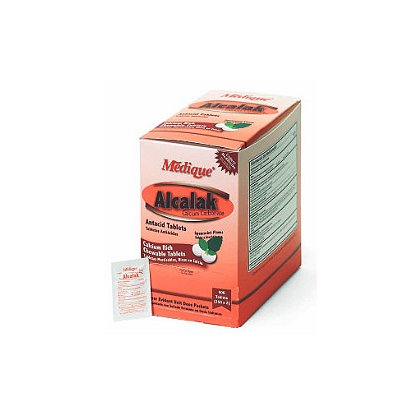 Medique Alcalak Antacid Tablets, 2/Pack, 50 Packs/Box