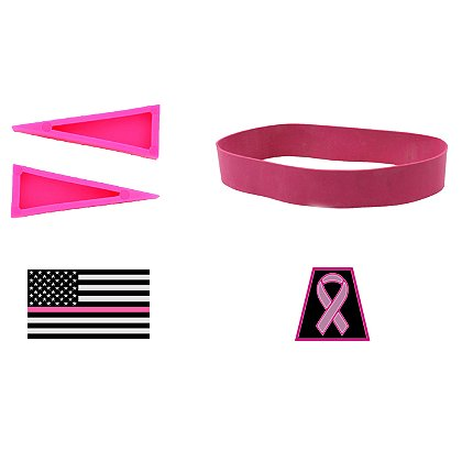 TheFireStore Exclusive Breast Cancer Awareness Helmet Accessory Kit
