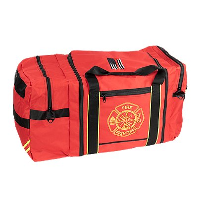 Exclusive Jumbo Firefighter Gear Bag with American Flag and Axe