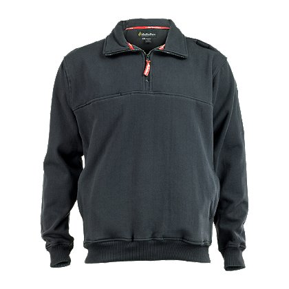 TheFireStore Exclusive Zip-Through Collar Job Shirt, Dark Navy