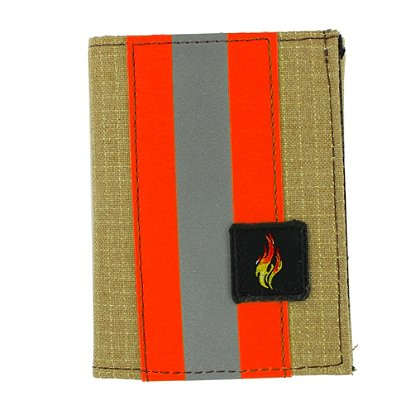 TheFireStore Exclusive Bunker Gear Trifold Dress Wallet with Single ID Window, PBI Gold Matrix, 2