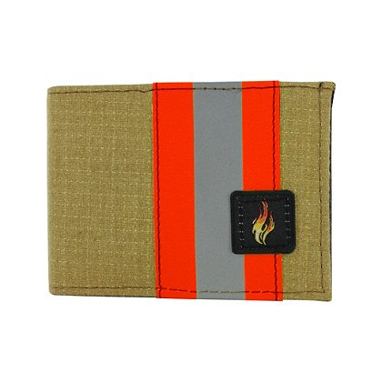 TheFireStore Exclusive Bunker Gear Bi-Fold Wallet w/ Gold PBI and Triple Trim