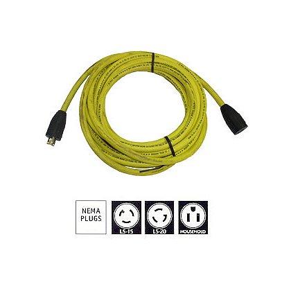 Tele-Lite Extension Cords, 10/3 SJOW, Yellow