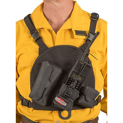 True North Single Universal Radio Chest Harness, Black