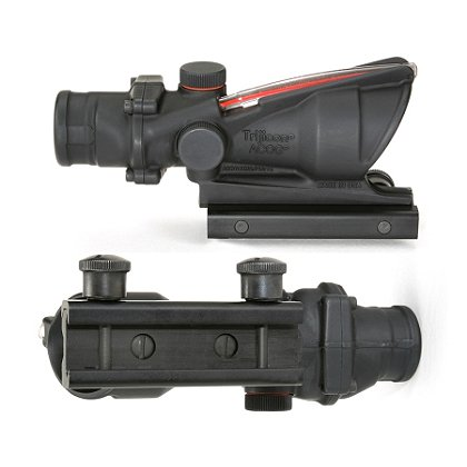 Trijicon ACOG 4x32 Scope, Dual Illumination, Carry Handle Mount, Choose Red Triangle or Red Donut,