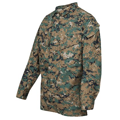 Tru-Spec Vat Print Digital Camo Uniform Shirt 65/35 Poly/Cotton Twill