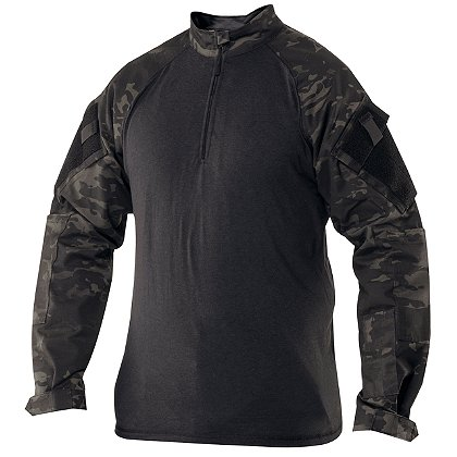 Tru-Spec 1/4 Zip CombaT-Shirt, MultiCam Black