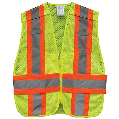 TSA ANSI II 5-Pt. Tear-away DOT Safety Vest