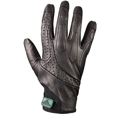 Turtleskin Delta Gloves, Puncture Resistant, Black Leather