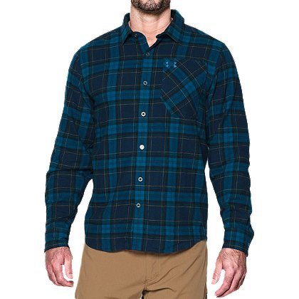 Under Armour Men's ColdGear Borderland Flannel Long Sleeve Shirt