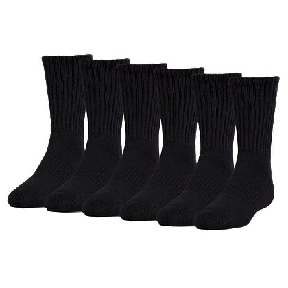 Under Armour Charged Cotton® 2.0 Crew Socks, 6-pk
