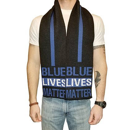 USA Blanket and Scarf Blue Lives Matter Scarf
