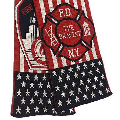USA Blanket and Scarf FDNY The Bravest Scarf