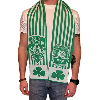 USA Blanket and Scarf NYPD Patch Irish Scarf
