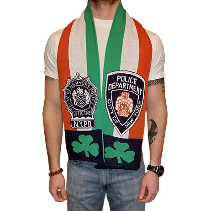 USA Blanket and Scarf Irish NYPD Detective Scarf