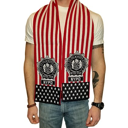 USA Blanket and Scarf NYPD Patriotic Detective Scarf