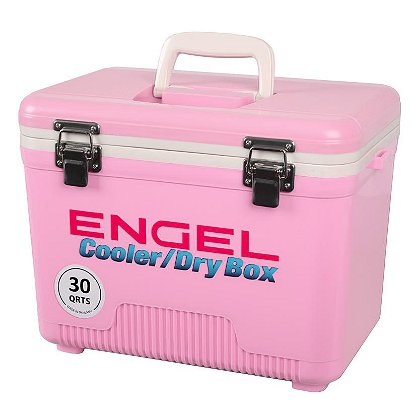 Engel 30 Quart Pink Cooler/Dry Box