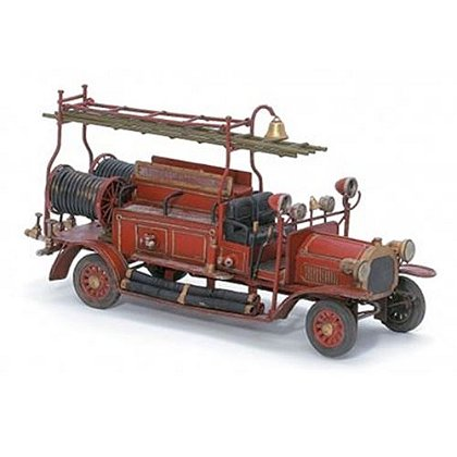 Collectible Metal Fire Truck Sculpture