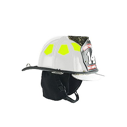 Bullard Traditional Fire Helmet Matte Finish, White