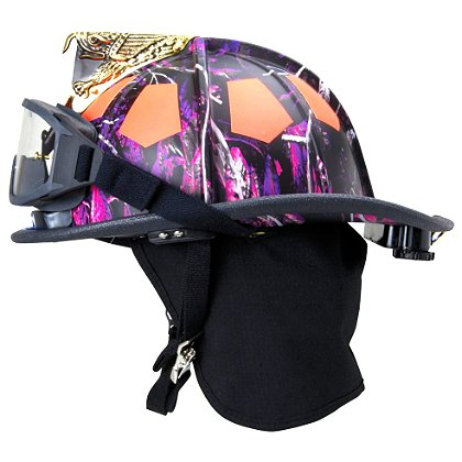Bullard USTM Traditional Fire Helmet, Muddy Girl Pink Forest Camo