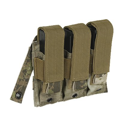 Voodoo Tactical Pistol Mag Pouch, Triple