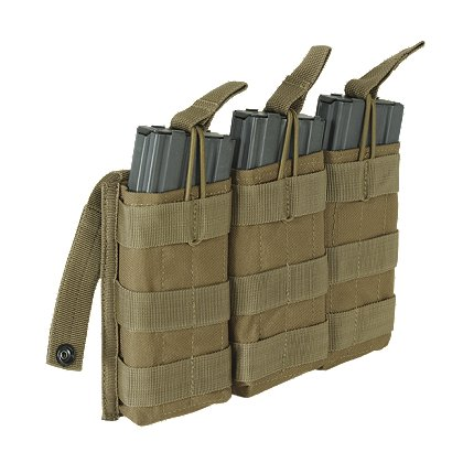Voodoo Tactical M4/M16 Triple Open Top Mag Pouch with Bungee System