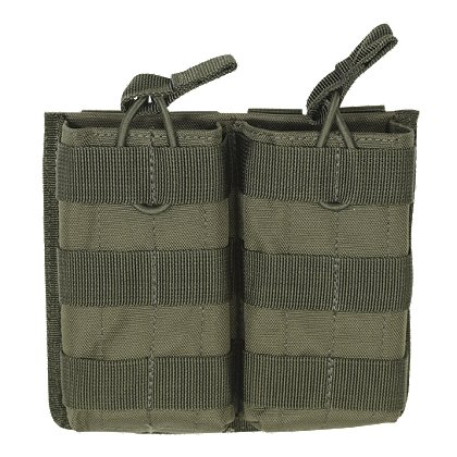 Voodoo Tactical M4/M16 Double Open Top Mag Pouch with Bungee System