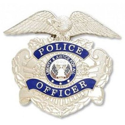 Smith & Warren Nickel Police Officer Hat Badge