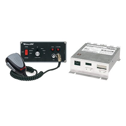 Whelen Hands Free Siren, Remote Dual Siren Amplifier with Flush Mount Control Head