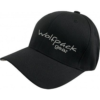 Wolfpack Gear Black Flexfit Hat with Logo