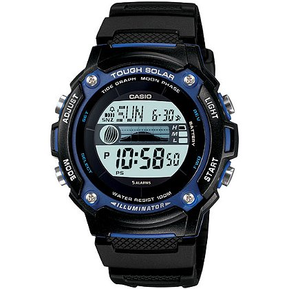 Casio Sport Digital Solar Watch, Digital, Tide/Moon, Black