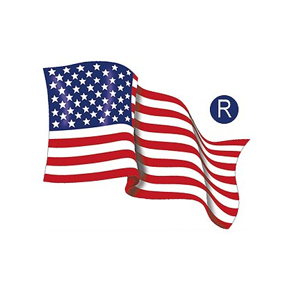 Exclusive Waving USA Reflective Flag Decal 2