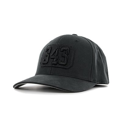 Exclusive Brushed Black Cotton Twill Hat with 343 Embroidery