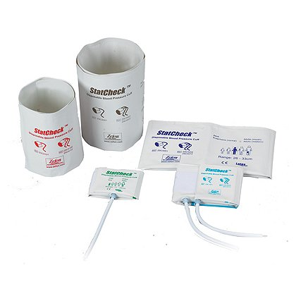 Zefon Statcheck Disposable BP Cuffs White Vinyl Material