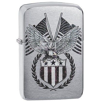 Zippo 1941 Replica Brushed Chrome, Americana Eagle