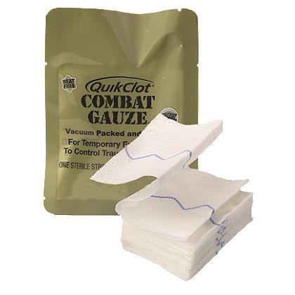 Z-Medica Quick Clot Combat Gauze, Z fold, 3
