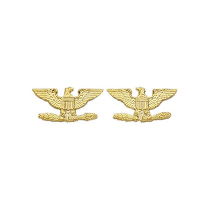 Smith & Warren Collar Pins, Eagles, Pair