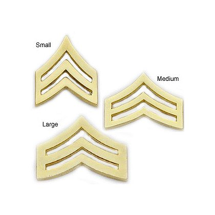 Smith & Warren Collar Pins, Sergeant Chevron, Pair