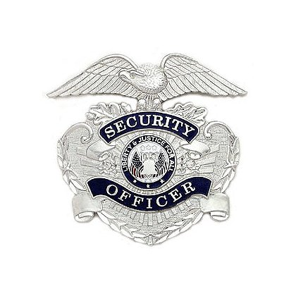 Smith & Warren Stock Hat Badge, Security Officer (Eagle)