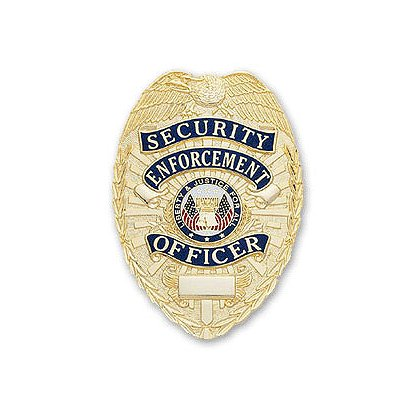 Smith & Warren Stock Badge, Security Enforcement Officer