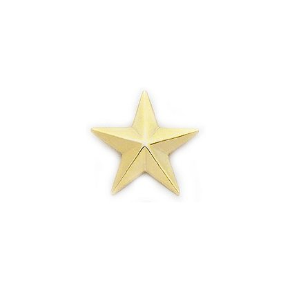 Smith & Warren Collar Pins, 1 Star, Pair