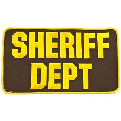 Large 5x9 Embroidered Sheriff Dept. Patch