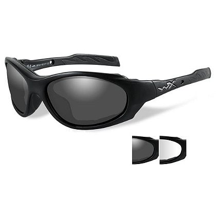 Wiley X XL-1 Advanced, Smoke and Clear Lens, Black Frame