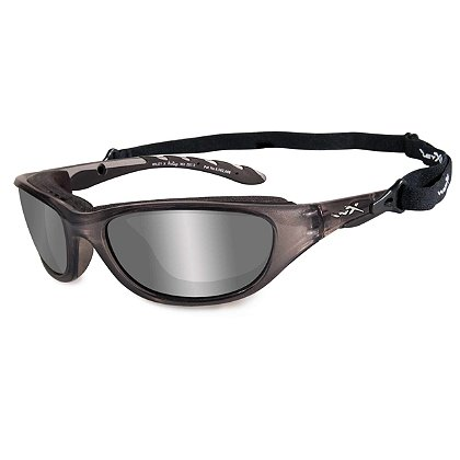 Wiley X AirRage Sunglasses, Polarized Smoke Grey Lens, Crystal Metallic Frame
