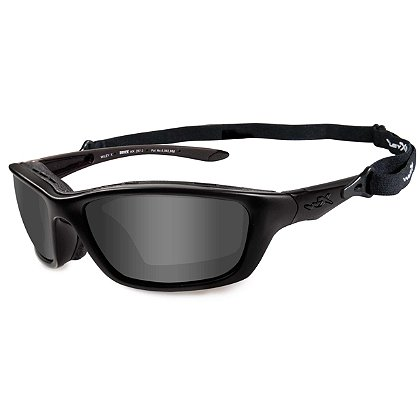 Wiley X Brick Black Ops Sunglasses, Smoke Grey Lens, Matte Black Frame