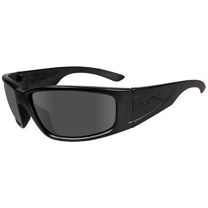 Wiley X Zak Black Ops Sunglasses, Smoke Grey Lens, Matte Black Frame
