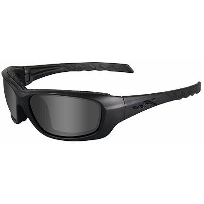 Wiley X Gravity Black Ops Sunglasses, Smoke Grey Lens, Matte Black Frame