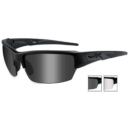 Wiley X Saint, Smoke Grey & Clear Lens, Matte Black Frame