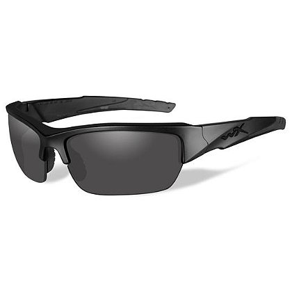 Wiley X Valor Sunglasses, Smoke Grey & Clear Lenses, Matte Black Frame